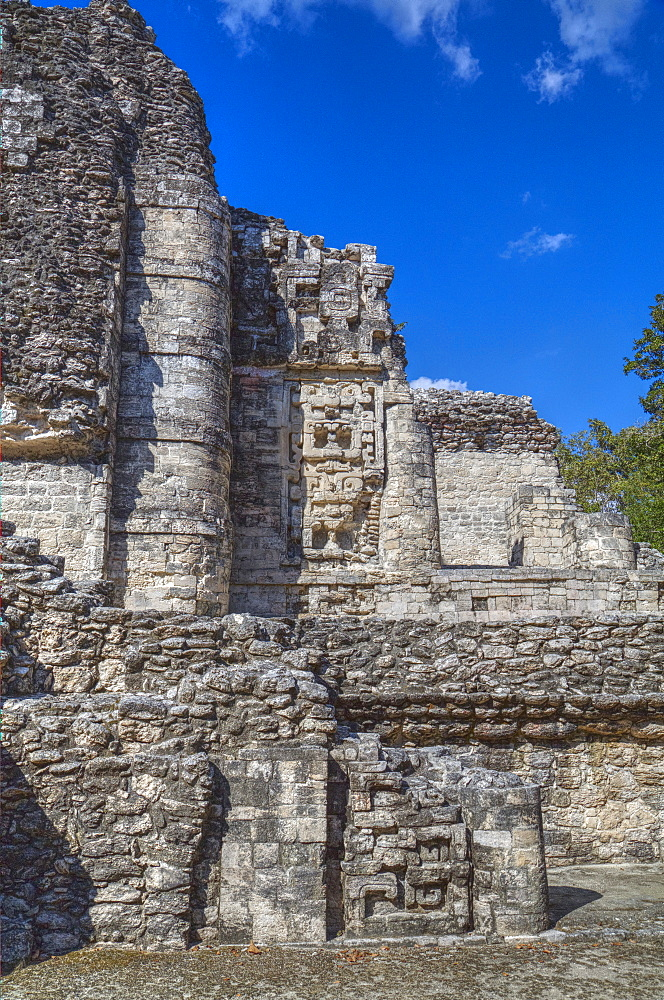 Stone sculptures, Hormiguero, Mayan archaeological site, Rio Bec style, Campeche, Mexico, North America