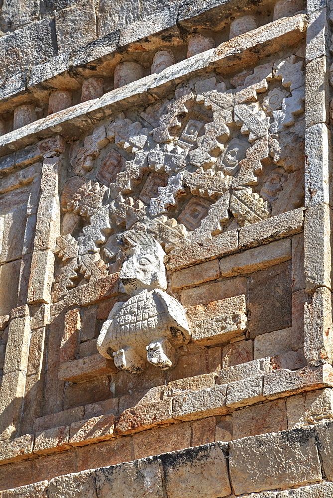 Stucco relief, Nuns Quadrangle, Uxmal, Mayan archaeological site, UNESCO World Heritage Site, Yucatan, Mexico, North America