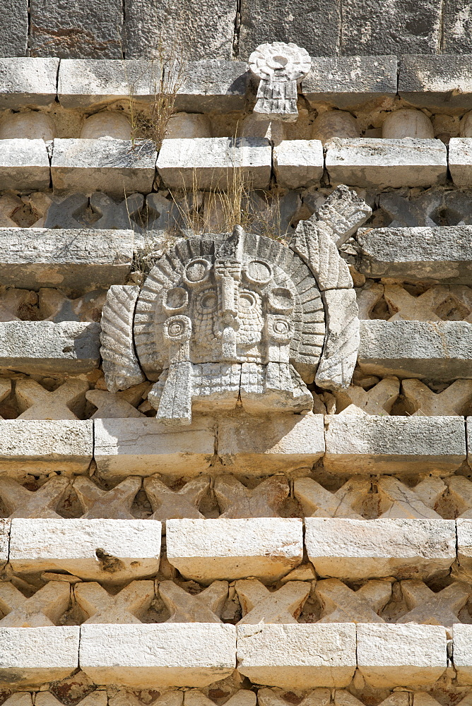Frieze, Nuns Quadrangle, Uxmal, Mayan archaeological site, UNESCO World Heritage Site, Yucatan, Mexico, North America