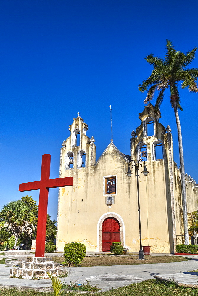 Church and Convent of Hopelchen, built during late 16th century, Hopelchen, Campeche, Mexico, North America