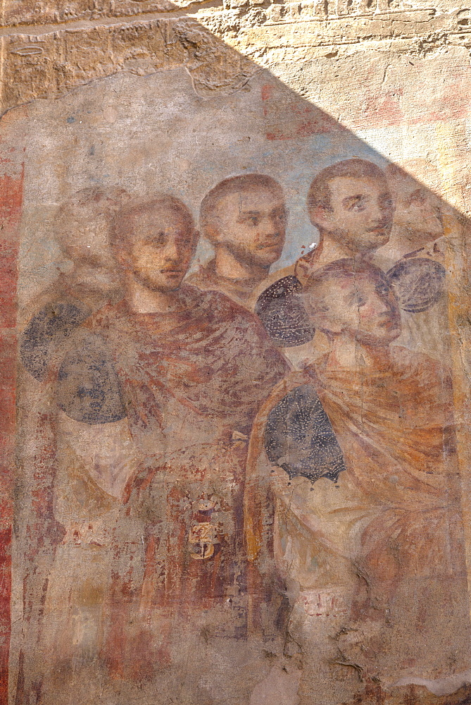 Paintings of Roman Emperors, Hypostyle Hall, Luxor Temple, Luxor, Thebes, UNESCO World Heritage Site, Egypt, North Africa, Africa