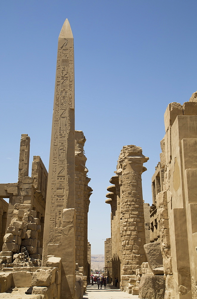 Obelisk of Tuthmosis, Karnak Temple, Luxor, Thebes, UNESCO World Heritage Site, Egypt, North Africa, Africa