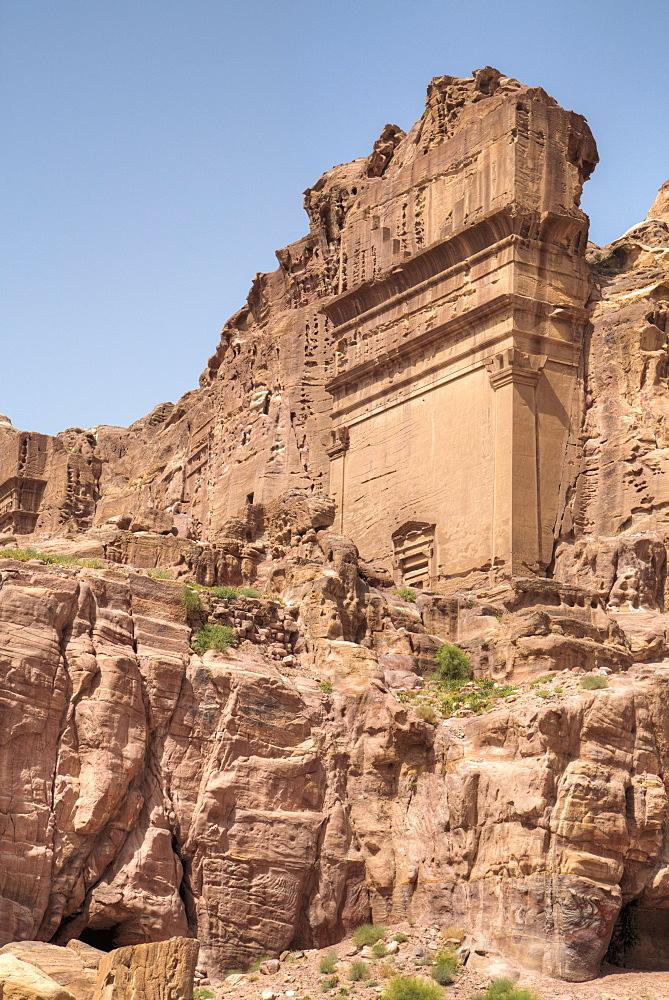 Uneishu Tomb, Petra, UNESCO World Heritage Site, Jordan, Middle East
