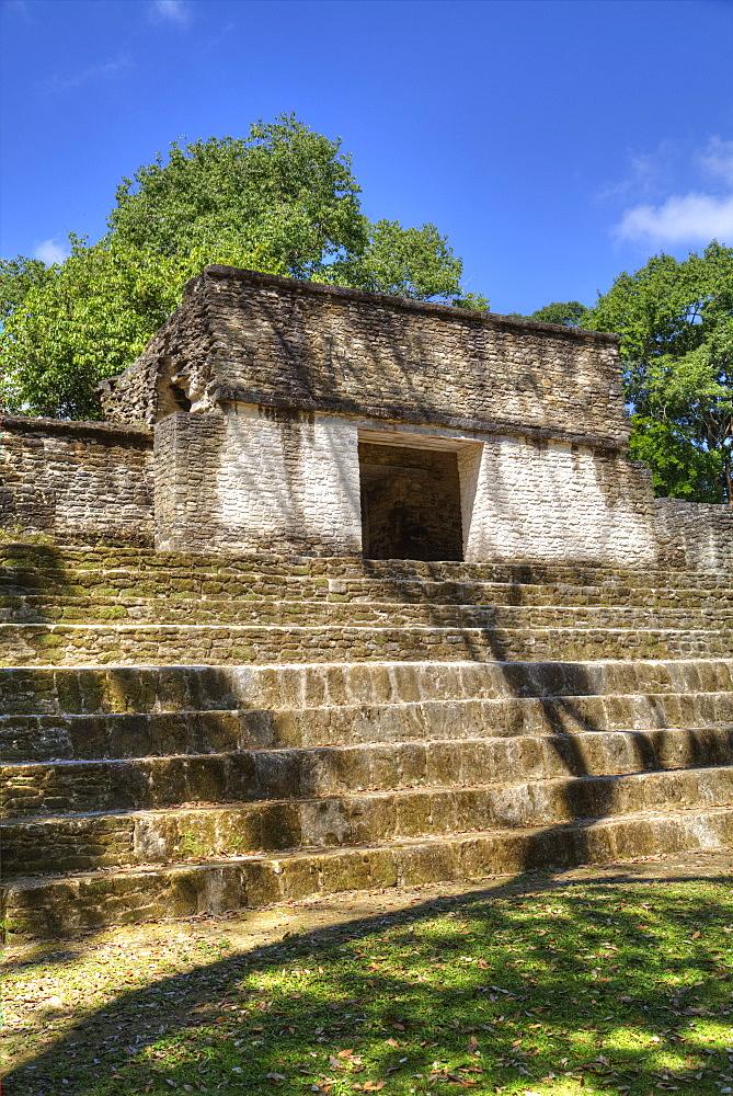 Mayan Arch, entry to Plaza A, Cahal Pech Mayan Ruins, San Ignacio, Belize, Central America