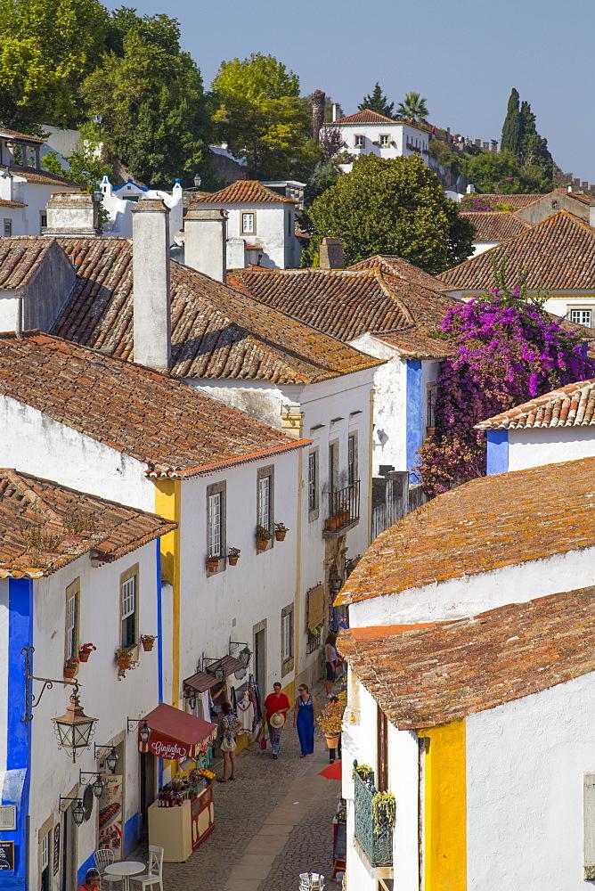 Rua Direita (Main Street), Obidos, Portugal, Europe