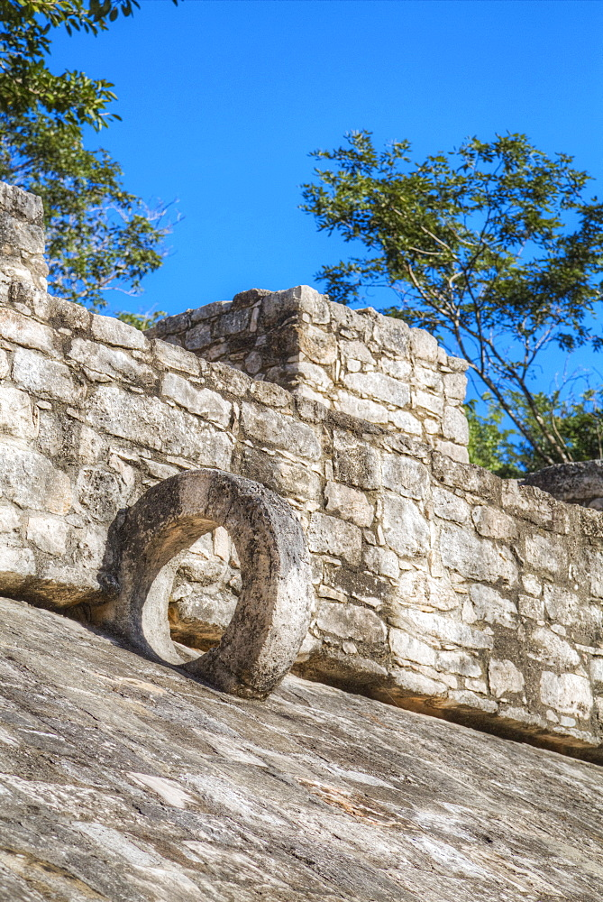 Ball Court, Coba Mayan Ruins, Quintana Roo, Mexico, North America - 801-1991