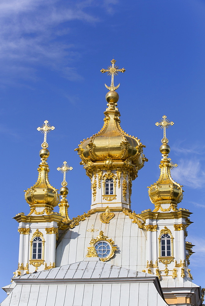 East Chapel, Peterhof, UNESCO World Heritage Site, near St. Petersburg, Russia, Europe