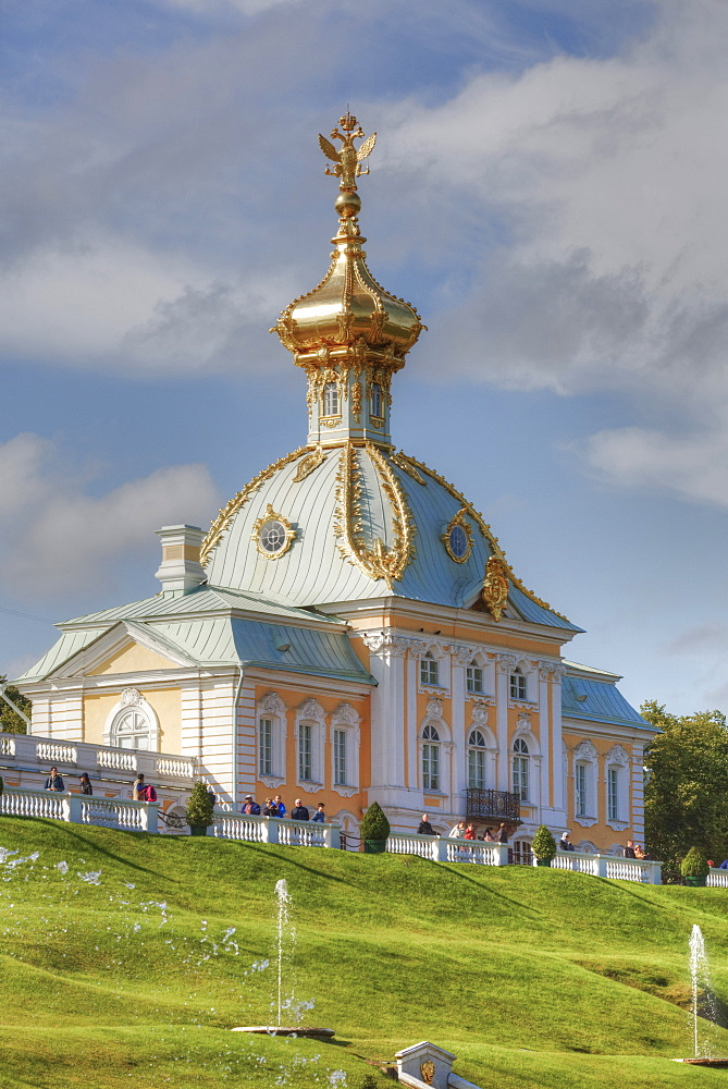 West Chapel, Peterhof, UNESCO World Heritage Site, near St. Petersburg, Russia, Europe