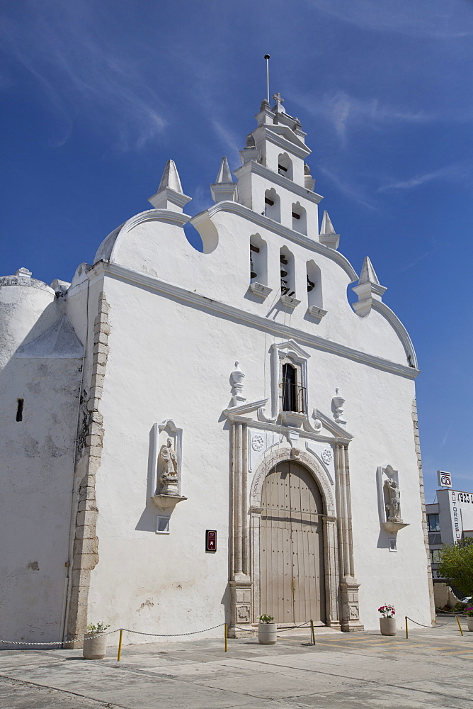 Colonial Church of Santiago Apostol, Merida, Yucatan, Mexico, North America