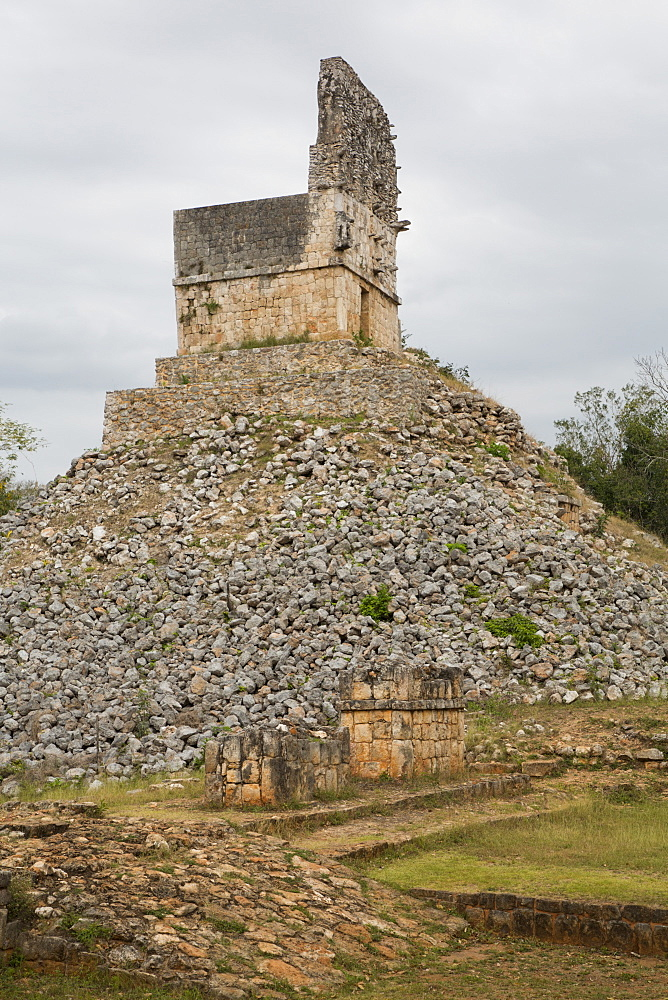 Mirador Temple Pyramid, Labna Archaeological Site, Mayan Ruins, Puuc style, Yucatan, Mexico, North America