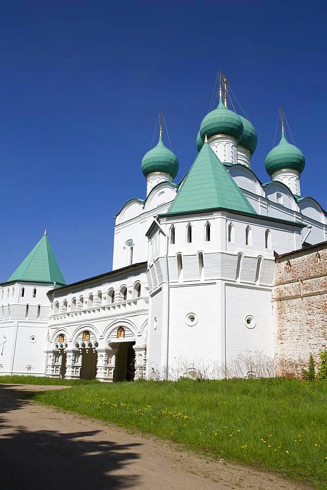 Gate Church, Boris and Gleb Monastery, Borisoglebsky, Golden Ring, Yaroslavl Oblast, Russia, Europe - 801-2340