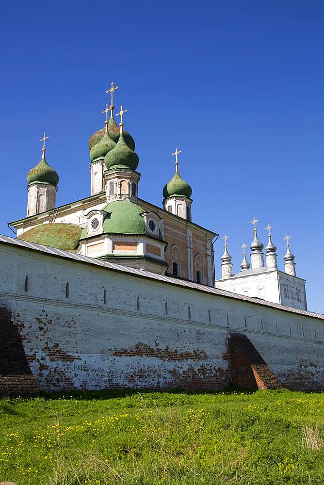 Assumption Cathedral, Goritsky Dormition Monastery, Pereslavl-Zalessky, Golden Ring, Yaroslavl Oblast, Russia, Europe