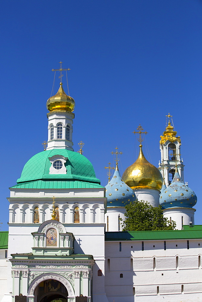 Holy Gate, The Holy Trinity Saint Sergius Lavra, UNESCO World Heritage Site, Sergiev Posad, Russia, Europe - 801-2388