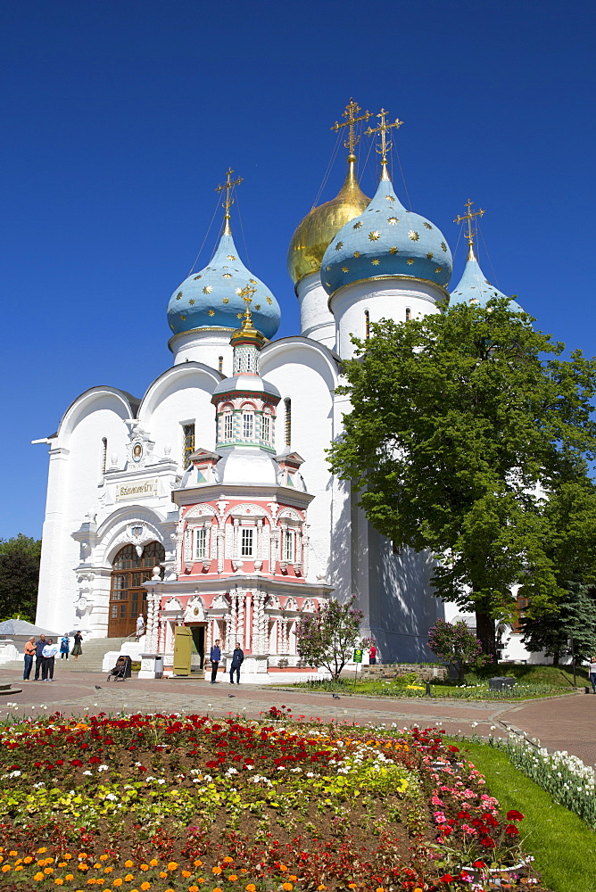 Holy Dormition Cathedral, The Holy Trinity Saint Serguis Lavra, UNESCO World Heritage Site, Sergiev Posad, Russia