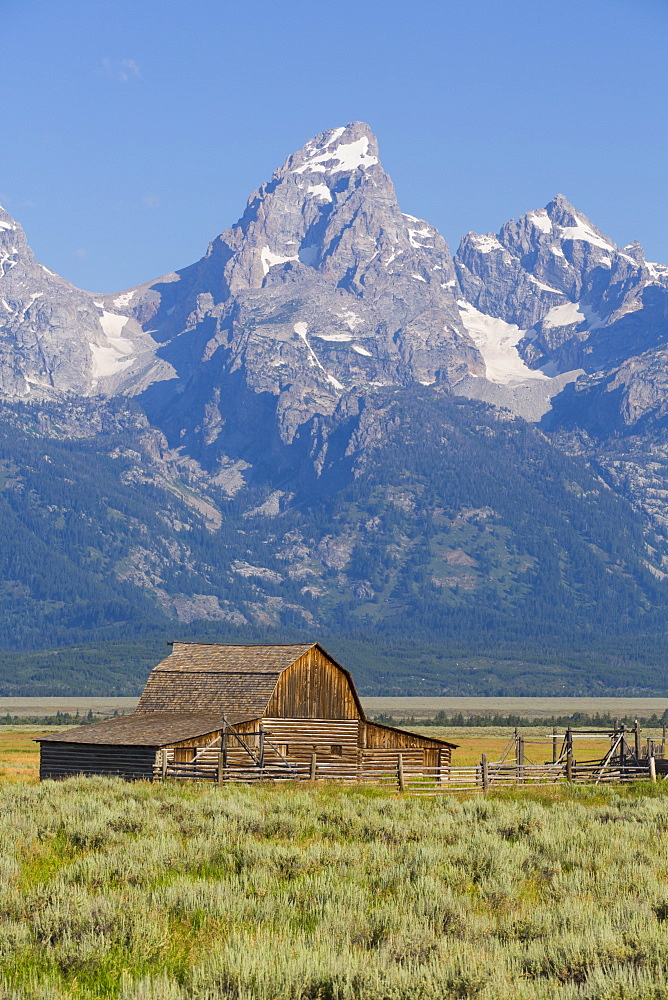 John Moulton Barn, Mormon Row, Grand Teton National Park, Wyoming, USA - 801-2410