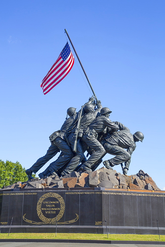 United States Marine Corps War Memorial, Washington D.C., United States of America, North America - 801-2432