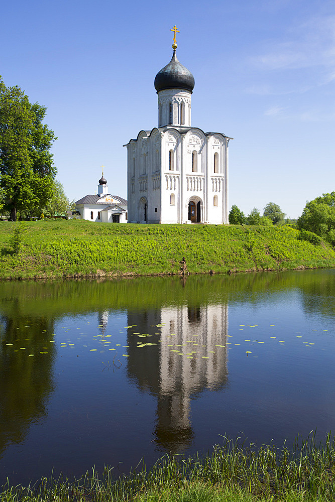 Church of the Intercession of the River Nerl, dating from 1165, UNESCO World Heritage Site, North of Vladimir, Russia, Europe