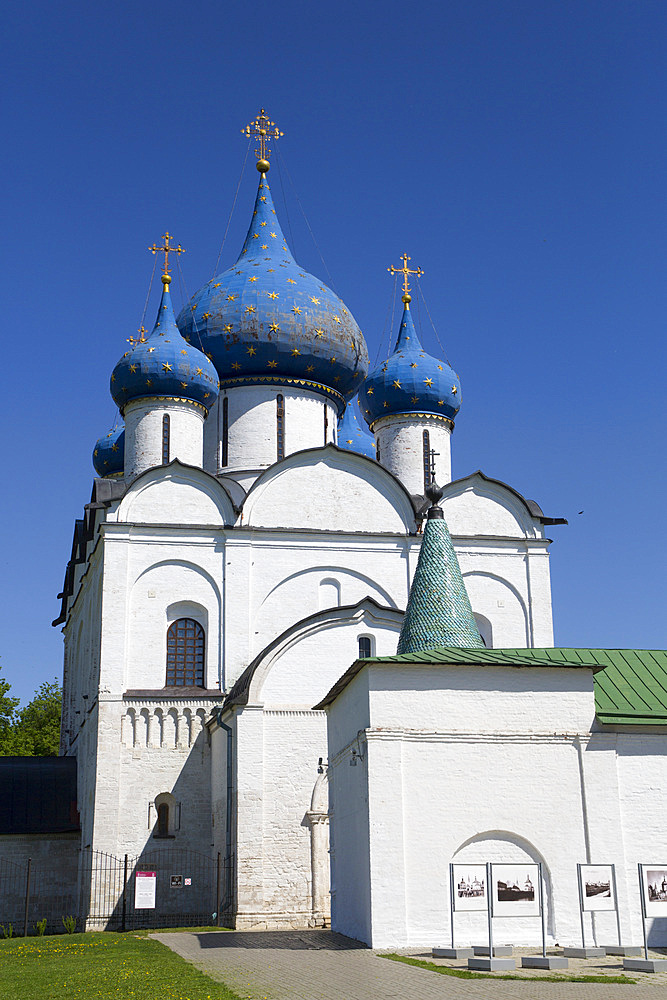 Cathedral of the Nativity dating from 1222, Kremlin, UNESCO World Heritage Site, Suzdal, Vladimir Oblast, Russia, Europe