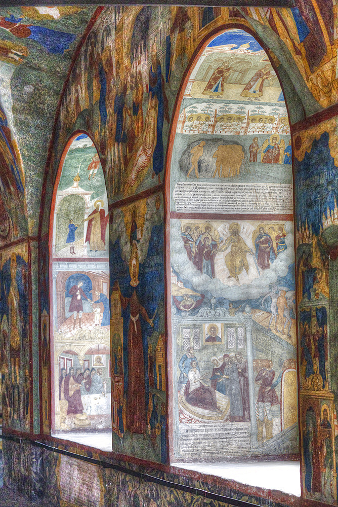 Frescoes, Church of St. John the Baptist, UNESCO World Heritage Site, Yaroslavl, Yaroslavl Oblast, Russia, Europe