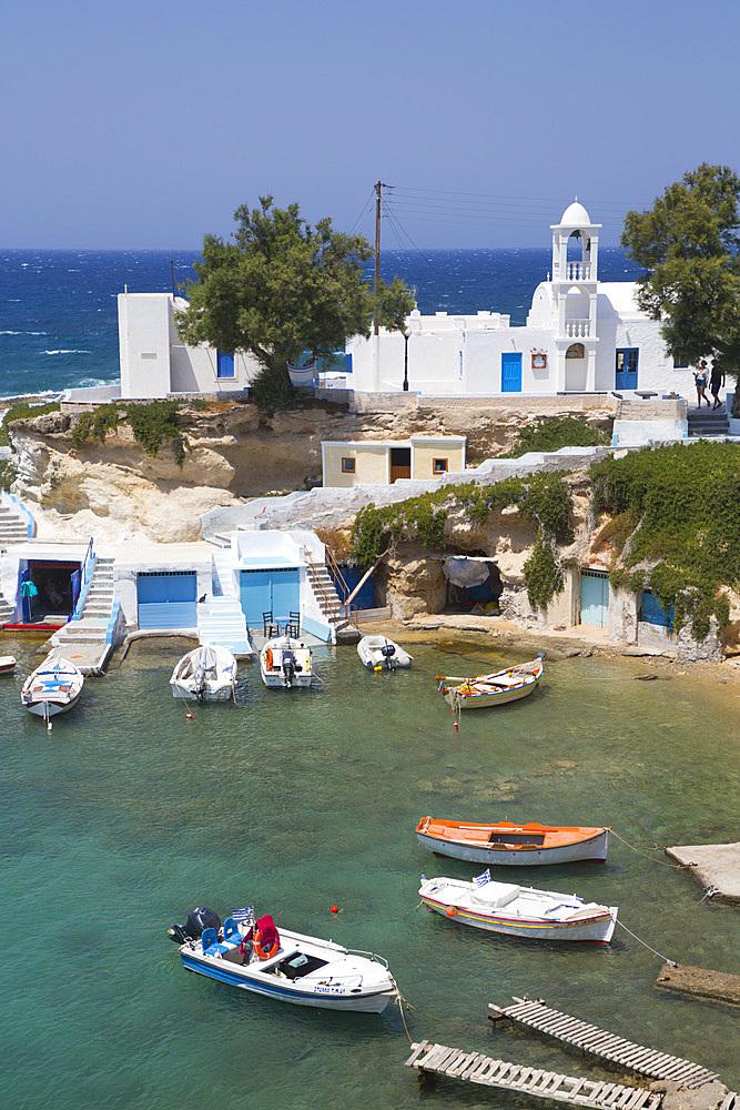 Harbor, Mandrakia Village, Milos Island, Cyclades Group, Greek Islands, Greece, Europe