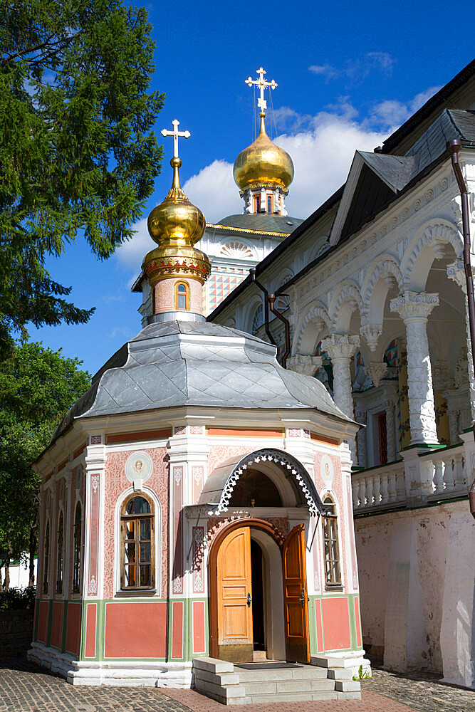 Chapel, The Holy Trinity St Sergius Lavra, UNESCO Site, Sergiev Posad, Golden Ring, Moscow Oblast, Russia - 801-2693