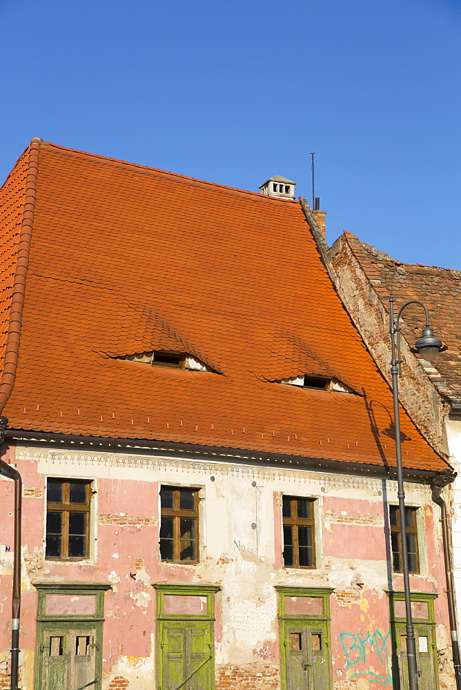House with Eyes, Sibiu, Transylvania Region, Romania, Europe