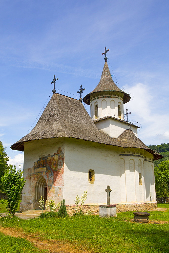 Church of the Holy Cross, 1487, UNESCO World Heritage Site, Patrauti, Suceava County, Romania, Europe