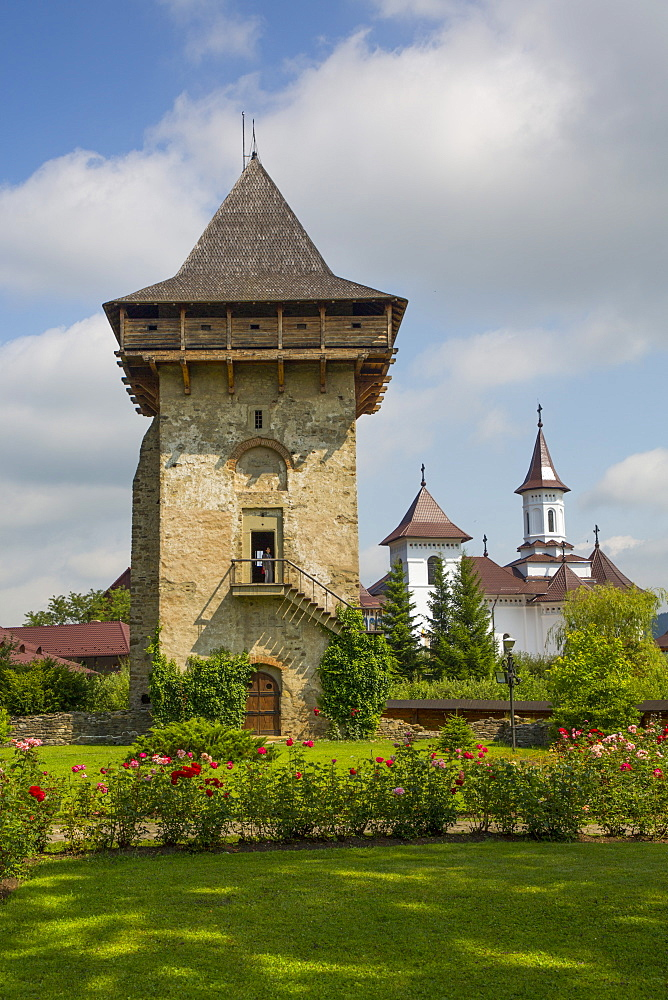Tower, Humor Monastery, 1530, UNESCO World Heritage Site, Manastirea Humorului, Suceava County, Romania, Europe