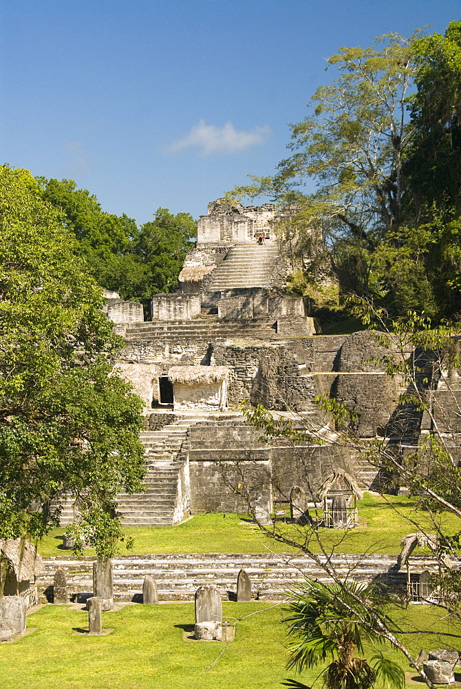 Great Plaza, North Acropolis, Tikal, UNESCO World Heritage Site, Tikal National Park, Peten, Guatemala, Central America