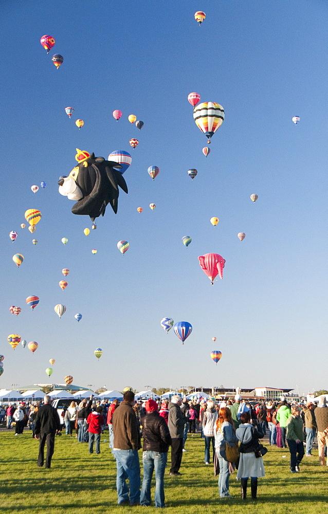The 2012 Balloon Fiesta, Albuquerque, New Mexico, United States of America, North America