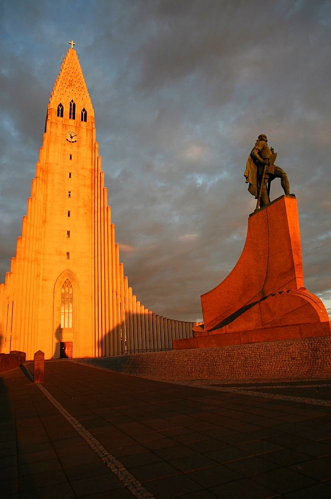 Cathedral in Reykjavik, Iceland, Polar Regions