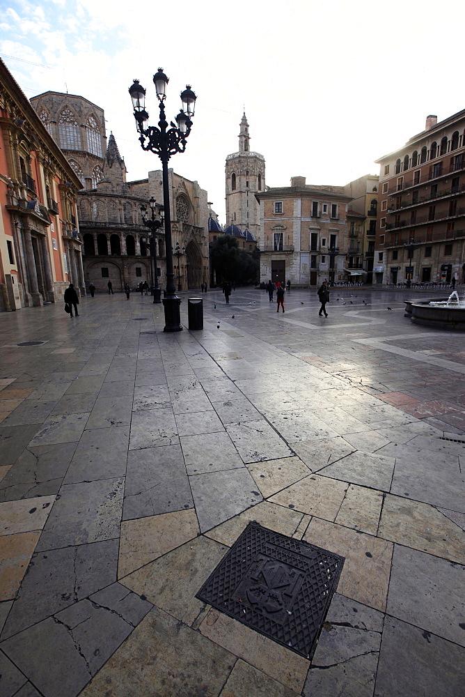 A square in Central Valencia, Valencia, Spain, Europe