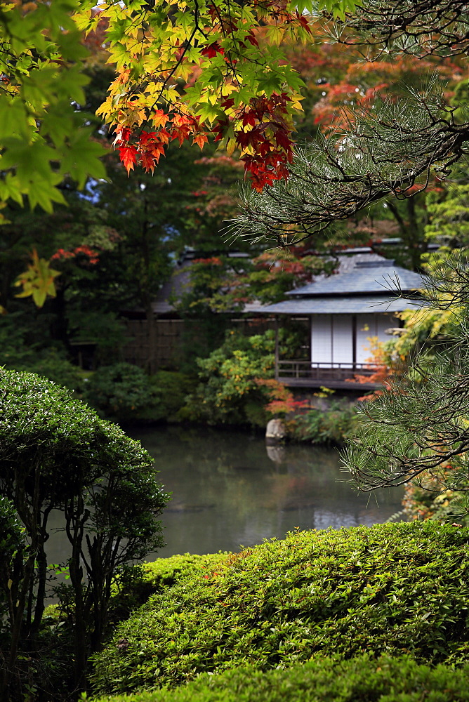 Japanese garden outside the Tokugawa Mausoleum, UNESCO World Heritage Site, Nikko, Honshu, Japan, Asia