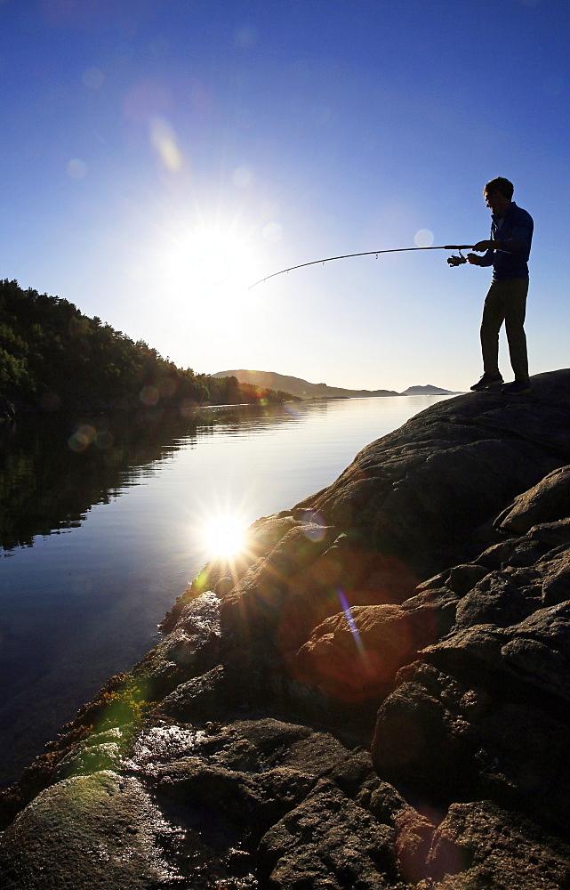 Fisherman, Flatanger, Nord-Trondelag, Norway, Scandinavia, Europe - 802-336