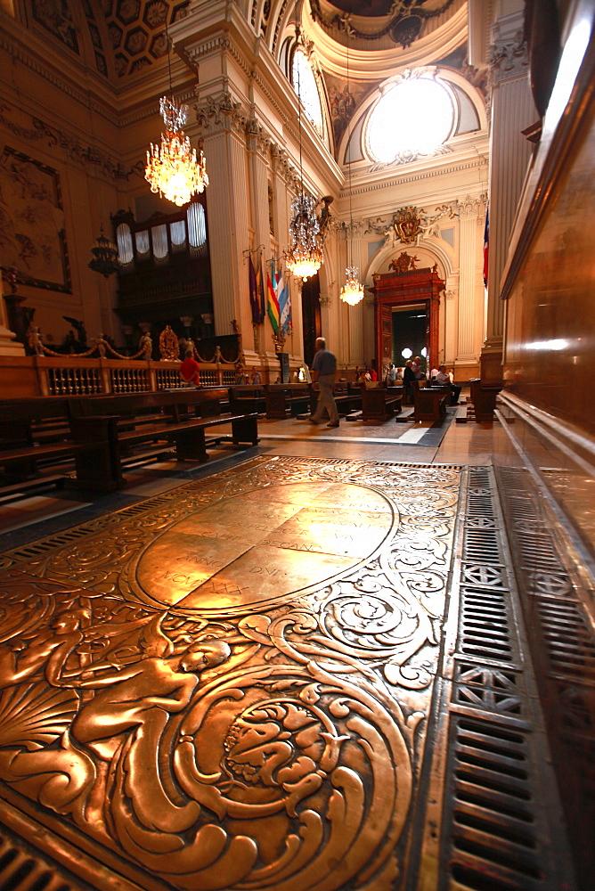 Interior of the huge Basilica de Nuestra Senora del Pilar,  Plaza del Pilar, central Zaragoza, Aragon, Spain, Europe