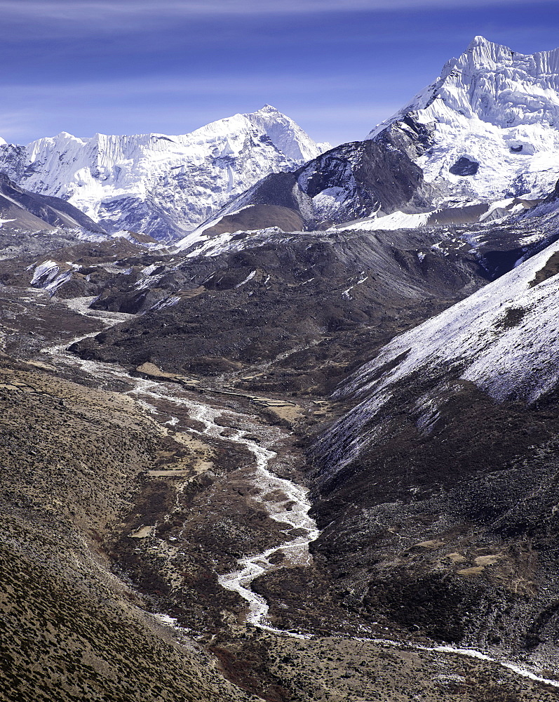 The Chola Valley in Sagarmatha National Park, UNESCO World Heritage Site, Himalayas, Nepal, Asia - 803-207