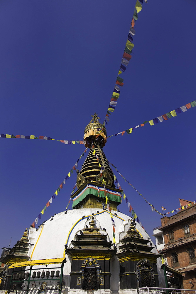 Shree Gha Buddhist Stupa, Thamel, Kathmandu, Nepal, Asia - 803-210