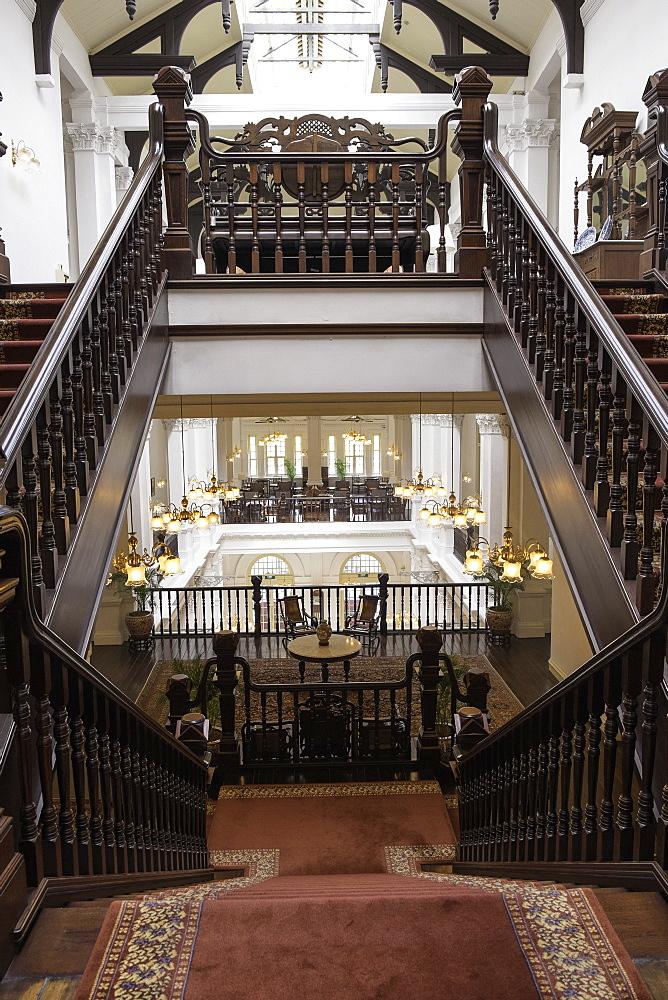 Interior of Raffles Hotel, Singapore, Southeast Asia, Asia - 803-222