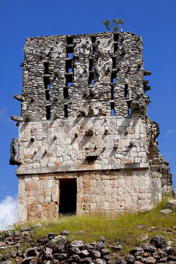 El Mirador (Watch Tower) (Observator), Mayan ruins, Labna, Yucatan, Mexico, North America - 804-402