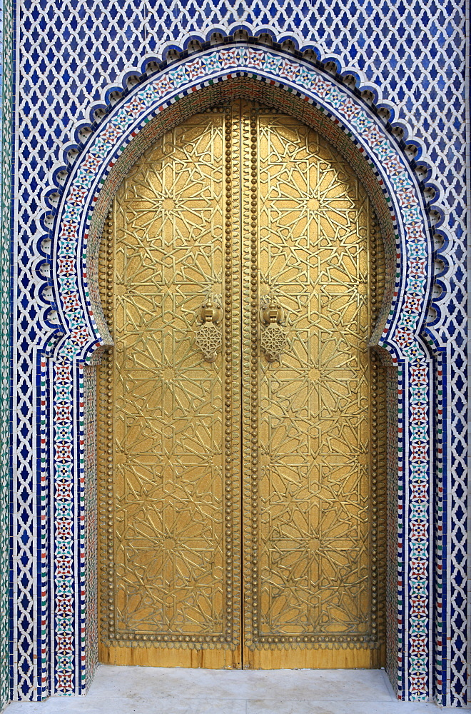 Door, Royal Palace Gates, Fez, Morocco, North Africa, Africa - 806-253