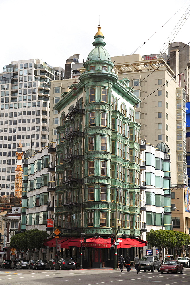 Flatiron Building, Columbus Tower (Sentinel Building), North Beach, San Francisco, California, United States of America, North America