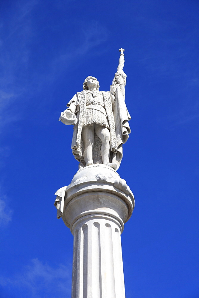 Christopher Columbus Statue, Plaza Colon, Old San Juan, San Juan, Puerto Rico, West Indies, Caribbean, United States of America, Central America