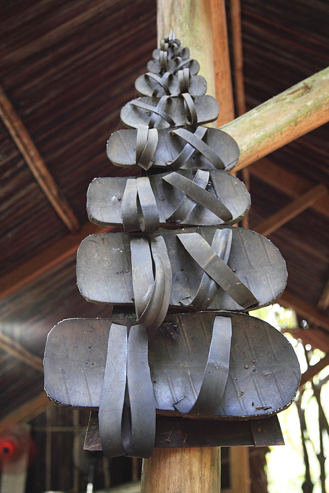 Rubber sandals made from tyres, Cu Chi Tunnels, Ho Chi Minh City (Saigon), Vietnam, Indochina, Southeast Asia, Asia