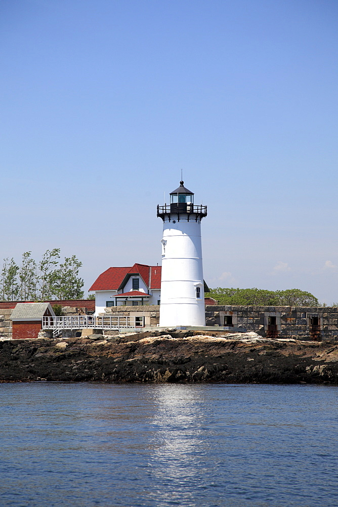 Portsmouth Harbor Lighthouse, Fort Point Light, Fort Constitution, New Castle, New Hampshire, New England, United States of America, North America