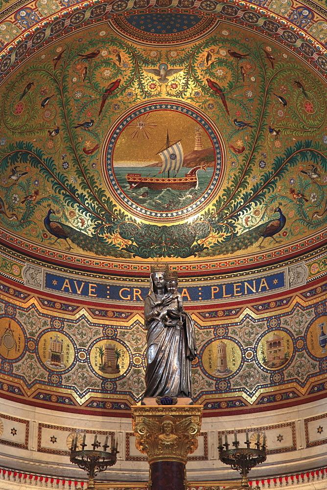 Notre Dame de la Garde, Marseille, Bouches du Rhone, Provence Alpes, Cote d'Azur, Provence, France, Europe
