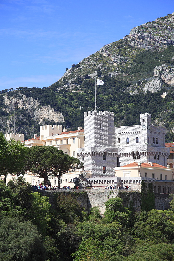 Princes of Grimaldi Palace (Royal Palace), Le Rocher (The Rock), Monaco, Cote d'Azur, Mediterranean, Europe