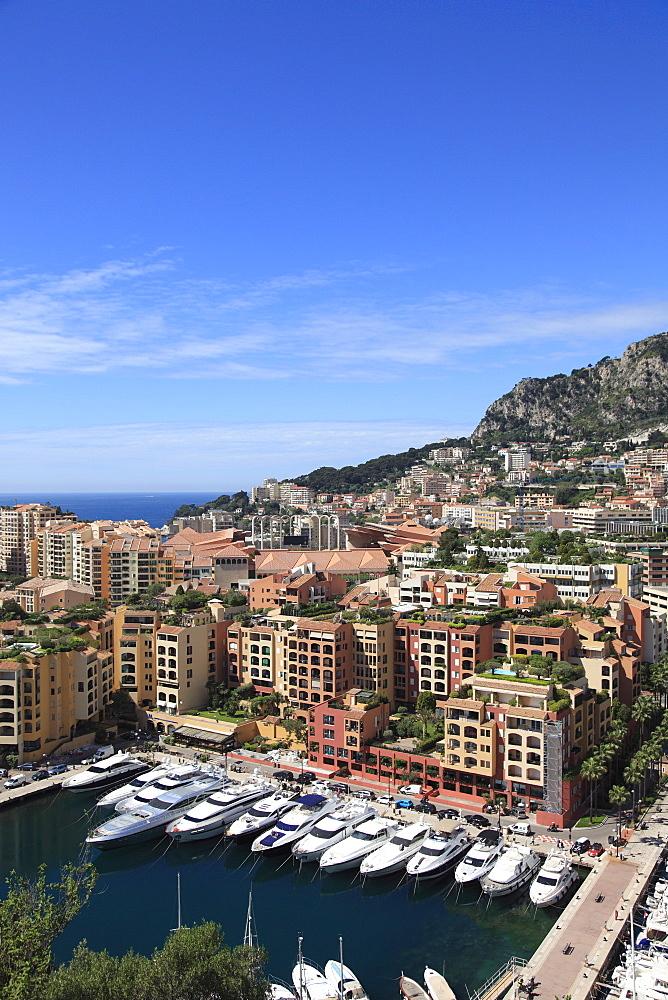 Port of Fontvieille, Fontvieille Harbor, Fontvieille, Monaco, Cote d'Azur, Mediterranean, Europe