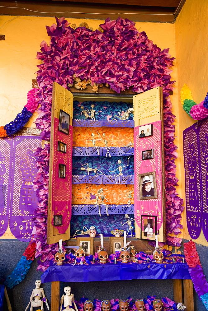 Altar, Day of the Dead, Patzcuaro, Michoacan state, Mexico, North America