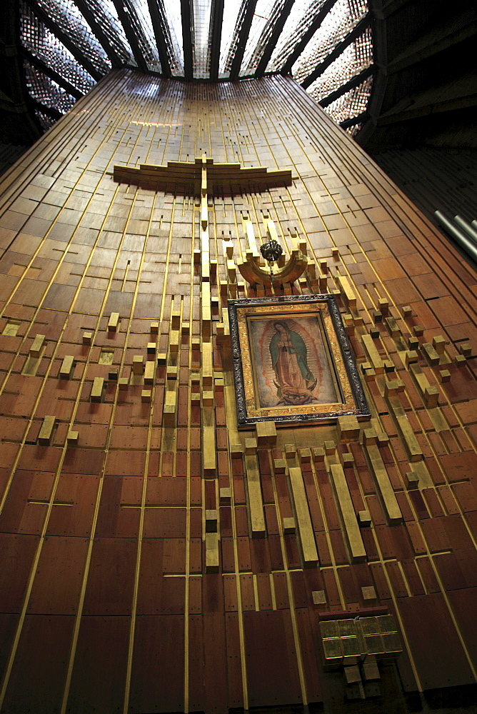 Shroud of Our Lady of Guadalupe, modern or new Basilica, Our Lady of Guadalupe, Mexico City, Mexico, North America