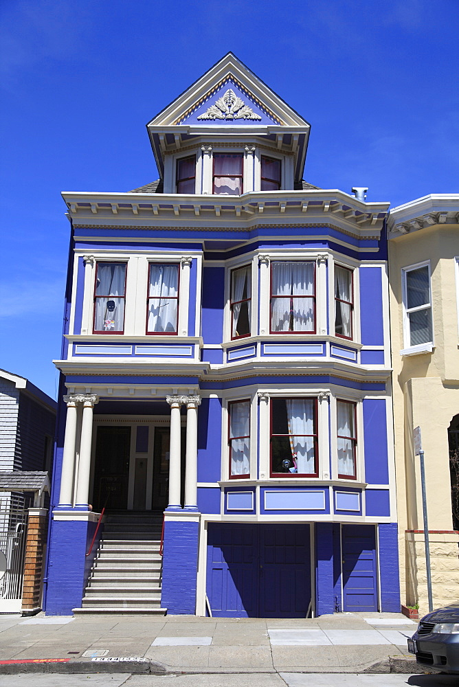 Victorian House architecture, Haight Ashbury District, The Haight, San Francisco, California, United States of America, North America